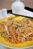κινεζικά τηγανισμένα noodles Στοκ Εικόνες