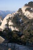 Κινεζικά τουριστικά αξιοθέατα επαρχιών Shaanxi στο βουνό Huashan Στοκ Εικόνα