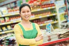 Κινεζικά τρόφιμα αγορών γυναικών Στοκ φωτογραφία με δικαίωμα ελεύθερης χρήσης