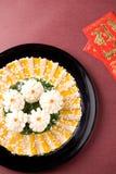 Κινεζικά τρόφιμα: καλαμάρι και sashimi Στοκ εικόνα με δικαίωμα ελεύθερης χρήσης