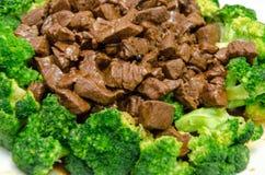 Κινεζικά τρόφιμα μια κινηματογράφηση σε πρώτο πλάνο βόειου κρέατος και μπρόκολου Στοκ φωτογραφία με δικαίωμα ελεύθερης χρήσης