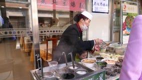Κινεζικά τρόφιμα οδών, Πεκίνο απόθεμα βίντεο