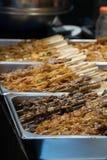 Κινεζικά τρόφιμα οδών - Kebabs Στοκ Φωτογραφία
