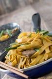 κινεζικά τρόφιμα chow βόειου κρέατος mein Στοκ Φωτογραφίες