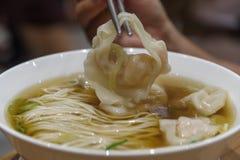 Κινεζικά τρόφιμα - wanton νουντλς Στοκ Φωτογραφίες