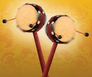 κινεζικά τύμπανα δύο Στοκ Φωτογραφίες