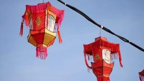 Κινεζικά φανάρια - κινεζικό νέο έτος απόθεμα βίντεο