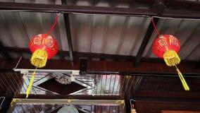 κινεζικά φανάρια κινεζικό νέο έτος fastive απόθεμα βίντεο
