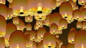 Κινεζικά φανάρια ουρανού απεικόνιση αποθεμάτων