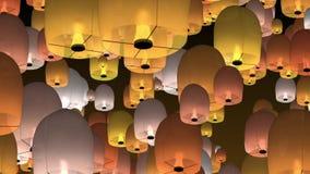 Κινεζικά φανάρια ουρανού ελεύθερη απεικόνιση δικαιώματος