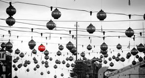 Κινεζικά φανάρια οδών Στοκ φωτογραφία με δικαίωμα ελεύθερης χρήσης