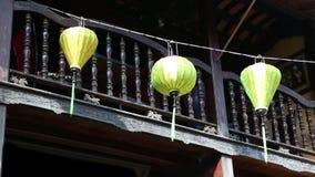Κινεζικά φανάρια σε Hoi μια πόλη, Βιετνάμ απόθεμα βίντεο