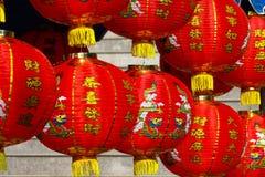 Κινεζικά φανάρια στην κινεζική νέα ημέρα ετών Στοκ Εικόνα