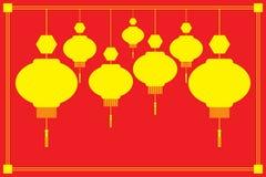 κινεζικά φανάρια διανυσματική απεικόνιση