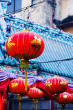 Κινεζικά φανάρια Wat Lengnoeiyi Στοκ φωτογραφία με δικαίωμα ελεύθερης χρήσης