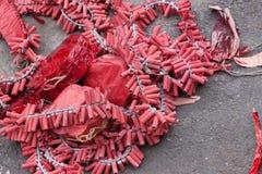 Κινεζικά firecrackers Στοκ Εικόνα