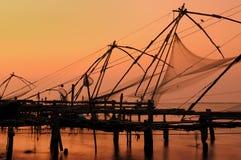 κινεζικά fisching δίχτυα Στοκ Φωτογραφία