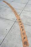 Κινεζικές λέξεις στο βερνικωμένο κεραμίδι Στοκ φωτογραφίες με δικαίωμα ελεύθερης χρήσης