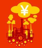 Κινεζικές βιομηχανία και αύξηση της κινεζικής οικονομίας Στοκ Φωτογραφία