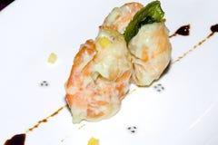κινεζικές γαρίδες γεύματος Στοκ φωτογραφίες με δικαίωμα ελεύθερης χρήσης