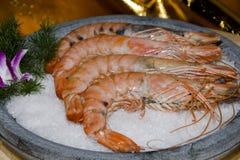 κινεζικές γαρίδες γεύμα&t Στοκ Φωτογραφία