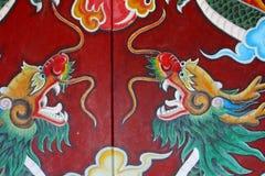 Κινεζικές διακοσμήσεις δράκων λεπτομερειών ναών, Hoi στοκ φωτογραφία με δικαίωμα ελεύθερης χρήσης