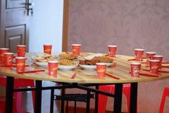 Κινεζικές κέικ και ζύμες για τη ημέρα γάμου Στοκ Εικόνα