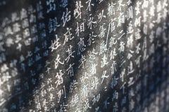 κινεζικές λέξεις Στοκ Φωτογραφίες