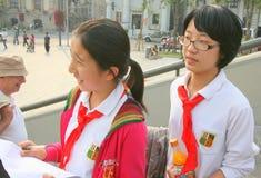 Κινεζικές μαθήτριες Στοκ φωτογραφία με δικαίωμα ελεύθερης χρήσης