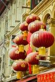 Κινεζικές φανάρια και διακοσμήσεις Στοκ φωτογραφία με δικαίωμα ελεύθερης χρήσης