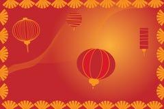 Κινεζική ανασκόπηση φαναριών - διάνυσμα Στοκ Εικόνες