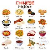 Κινεζική απεικόνιση κουζίνας τροφίμων Στοκ φωτογραφία με δικαίωμα ελεύθερης χρήσης
