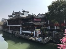 Κινεζική αρχαία αγορά στοκ φωτογραφίες με δικαίωμα ελεύθερης χρήσης