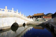Κινεζική αρχαία αρχιτεκτονική στους ανατολικούς βασιλικούς τάφους της Qing Στοκ Εικόνα