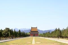 Κινεζική αρχαία αρχιτεκτονική στους ανατολικούς βασιλικούς τάφους του Q Στοκ φωτογραφίες με δικαίωμα ελεύθερης χρήσης