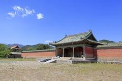 Κινεζική αρχαία αρχιτεκτονική στους ανατολικούς βασιλικούς τάφους του Q Στοκ Φωτογραφία