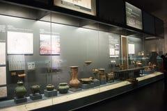 Κινεζική Ασία, Πεκίνο, το κύριο μουσείο, το αρχαίο κεφάλαιο της ιστορικής και πολιτιστικής έκθεσης του Πεκίνου, Στοκ Φωτογραφία