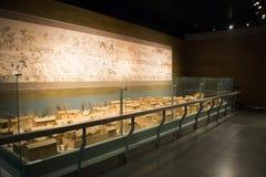Κινεζική Ασία, Πεκίνο, το κύριο μουσείο, το αρχαίο κεφάλαιο της ιστορικής και πολιτιστικής έκθεσης του Πεκίνου, Στοκ φωτογραφία με δικαίωμα ελεύθερης χρήσης