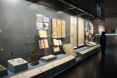 Κινεζική Ασία, Πεκίνο, το κύριο μουσείο, το αρχαίο κεφάλαιο της ιστορικής και πολιτιστικής έκθεσης του Πεκίνου, Στοκ εικόνες με δικαίωμα ελεύθερης χρήσης