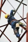 Κινεζική δομή χάλυβα ζωγραφικής εργαζομένων στοκ εικόνα με δικαίωμα ελεύθερης χρήσης