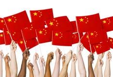 Κινεζική εθνική έννοια εορτασμού θέσης σημαιών Στοκ φωτογραφία με δικαίωμα ελεύθερης χρήσης