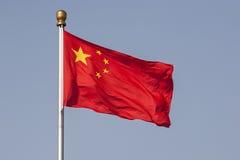 Κινεζική εθνική σημαία στοκ εικόνες με δικαίωμα ελεύθερης χρήσης