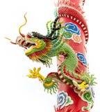 Κινεζική εικόνα δράκων που απομονώνεται Στοκ Εικόνα