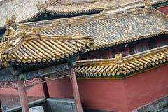 Κινεζική λεπτομέρεια στεγών Στοκ εικόνα με δικαίωμα ελεύθερης χρήσης