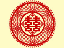 κινεζική ευτυχία papercut Στοκ Εικόνες
