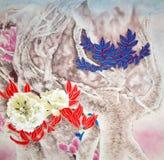 κινεζική ζωγραφική παραδ& διανυσματική απεικόνιση