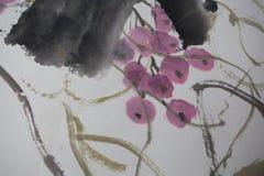 Κινεζική ζωγραφική σε χαρτί, τοπικό Στοκ φωτογραφία με δικαίωμα ελεύθερης χρήσης