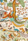 Κινεζική ζωγραφική στον τοίχο απεικόνιση αποθεμάτων