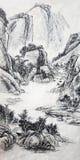 Κινεζική ζωγραφική Στοκ εικόνα με δικαίωμα ελεύθερης χρήσης