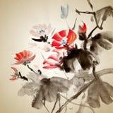 κινεζική ζωγραφική Στοκ φωτογραφίες με δικαίωμα ελεύθερης χρήσης